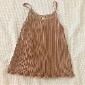 Dusty rose pleated cami